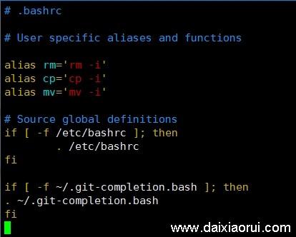 bashrc增加git补全配置