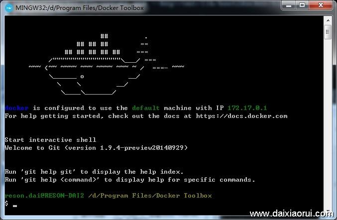安装docker成功